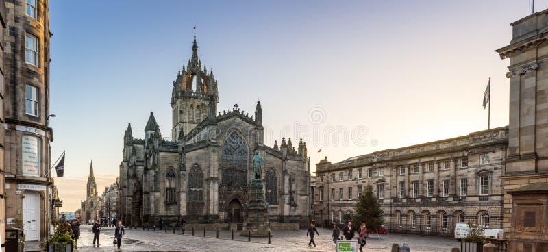 Edinburgh, Schotland, het UK - 16 November 2016: St Giles Cathedral stock afbeeldingen