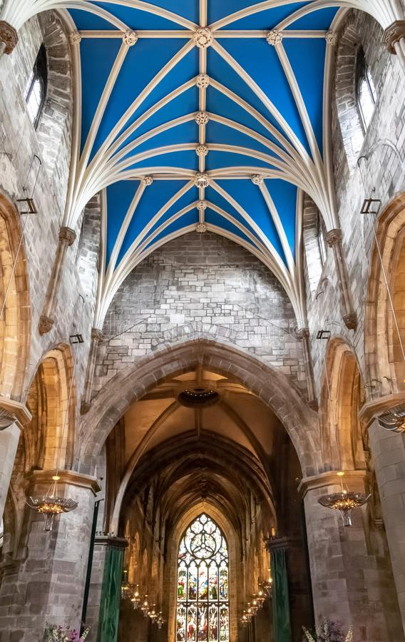 Inside St Giles` Cathedral in Edinburgh Scotland royalty free stock image