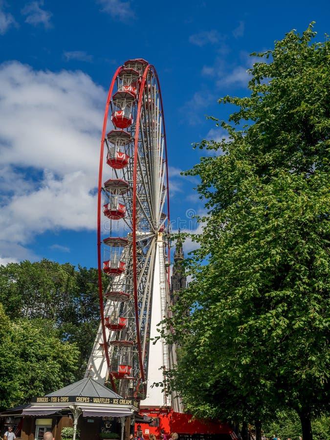 Festival Wheel, Edinburgh royalty free stock images