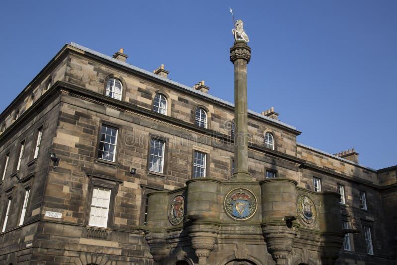 Edinburgh Scotland mercat krzyż zdjęcie stock