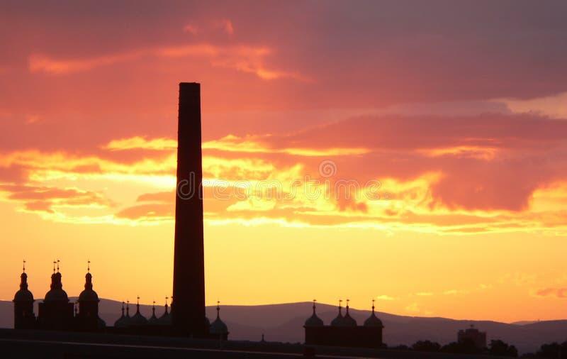 edinburgh scotland solnedgång royaltyfria bilder