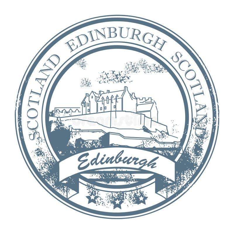 edinburgh scotland stämpel stock illustrationer