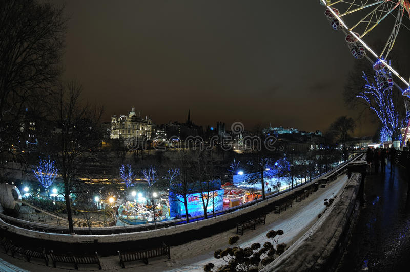 Edinburgh,Scotland,UK, at night, in winter royalty free stock photography