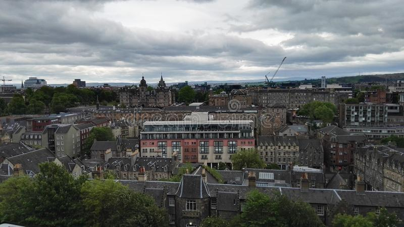 edinburgh sikt royaltyfria foton