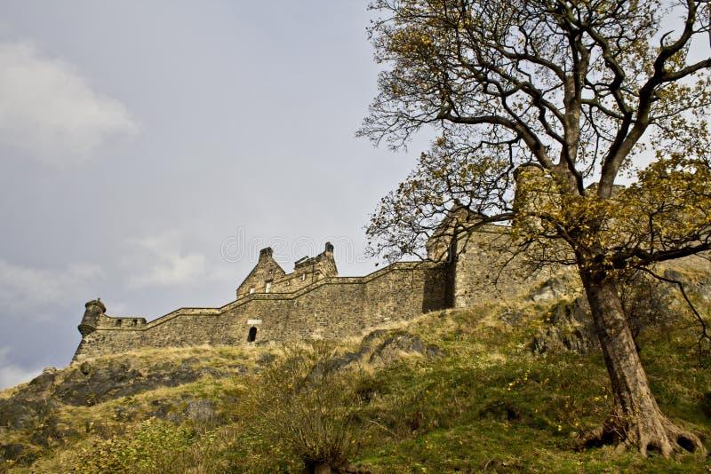 Edinburgh slott arkivfoto