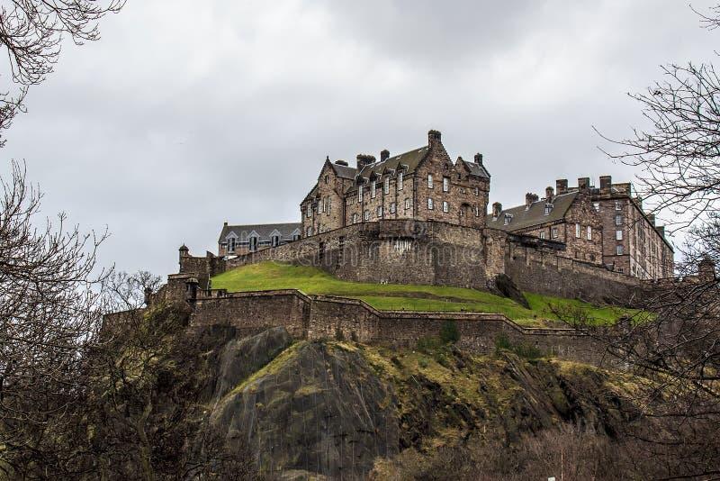 Edinburgh slott royaltyfri fotografi