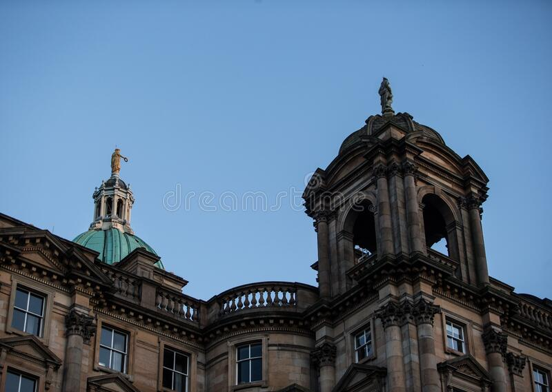 EDINBURGH, UNITED KINGDOM - Dec 15, 2017: Bank of Scotland Foundation. As seen on the way up via The Mound royalty free stock images