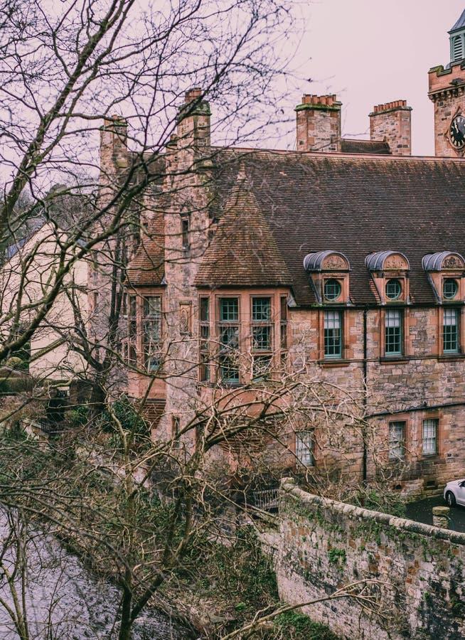 EDINBURGH, UNITED KINGDOM - Jan 14, 2020: Dean. Village is a fairytell place in Edinburgh stock images