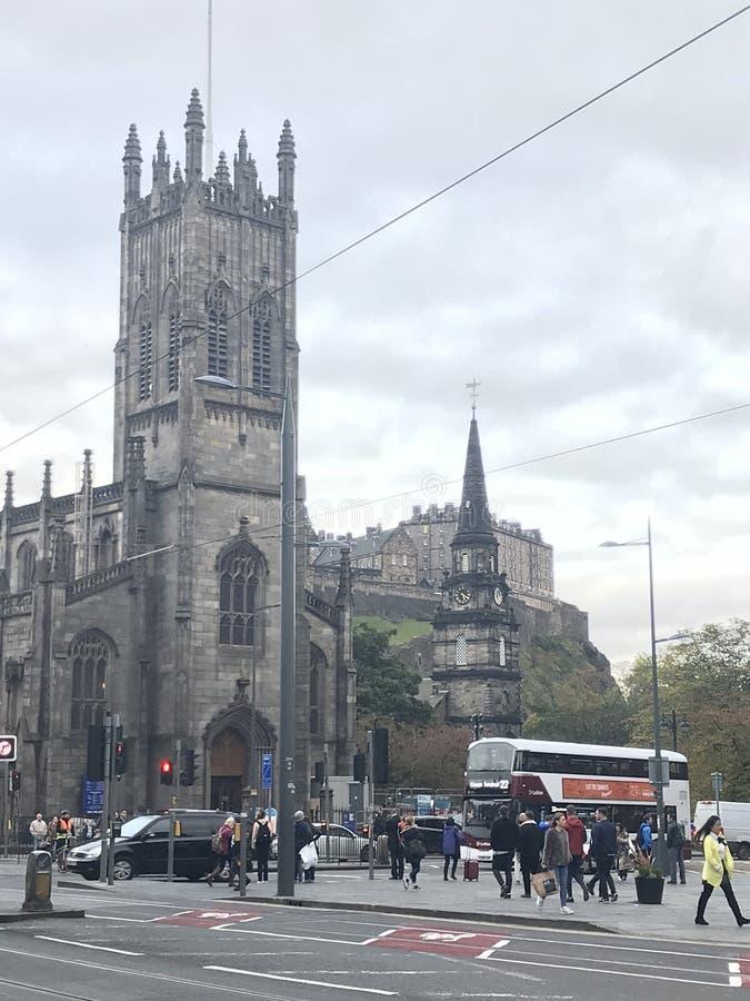 Edinburgh van de binnenstad stock foto