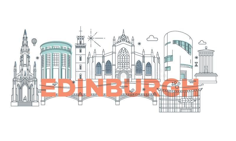 Edinburgh vector branding technology concept vector illustration