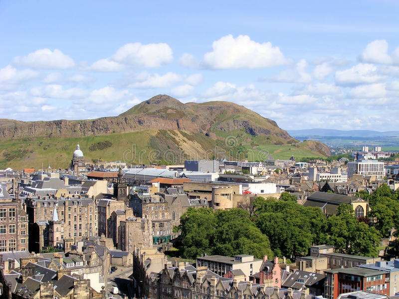 Download Edinburgh view stock image. Image of mountain, cityscape - 18601861