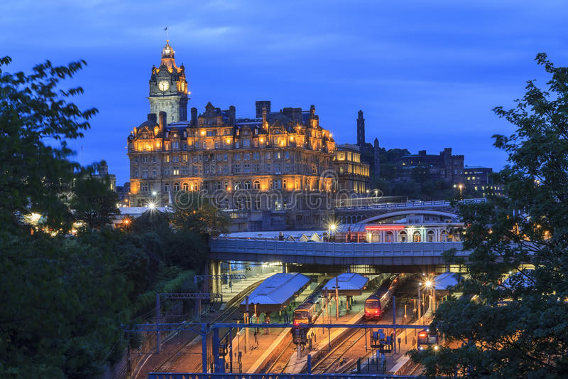 The Edinburgh Waverley (Train station) in Edinburgh. United Kingdom stock photography