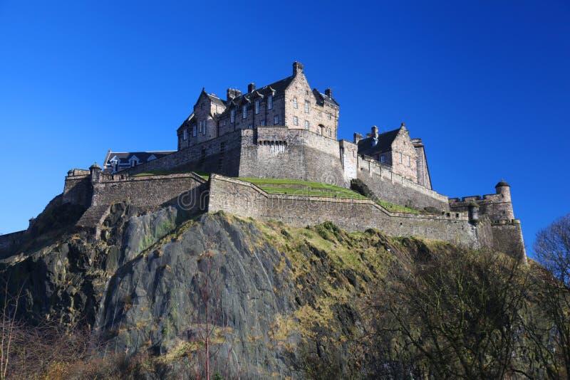 Edinburgslott i Skottland arkivfoton