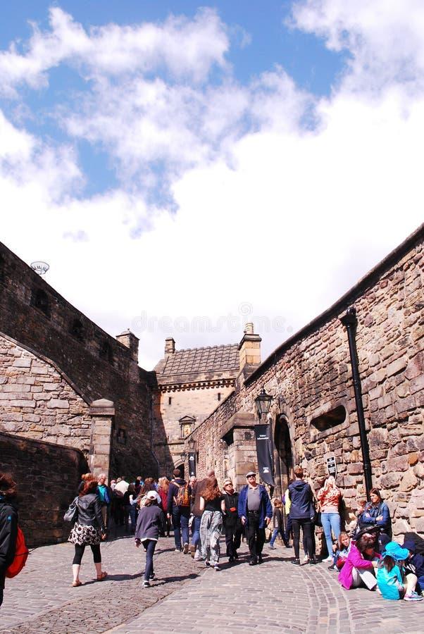 Edinburgslott, staden av Edinburg, Skottland royaltyfria bilder