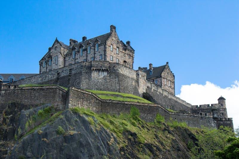 EdinburgslottEdinburg, Skottland royaltyfria bilder