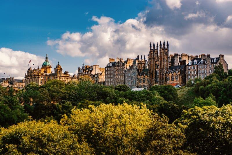 Edinburgslottsikt, Skottland UK, lopp i Europa royaltyfria bilder
