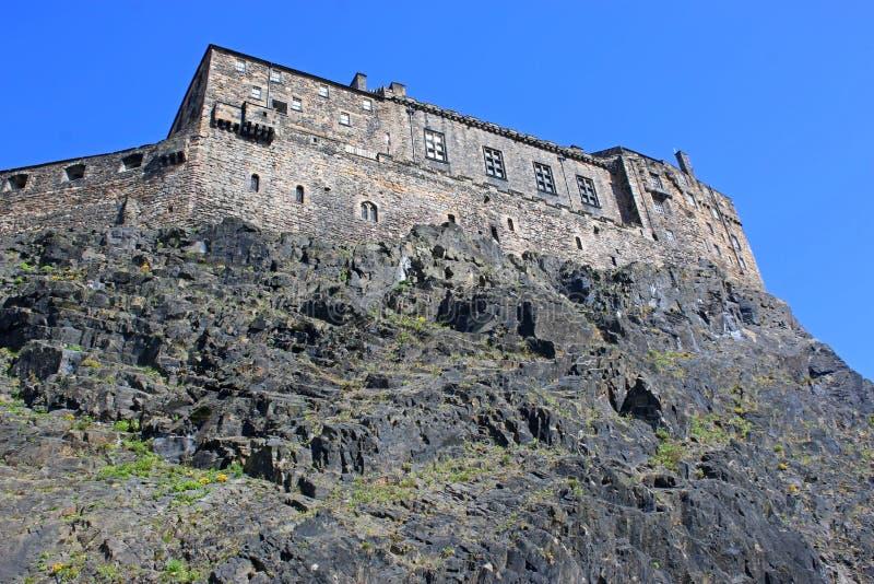 Edinburgslottväggar, Skottland royaltyfri fotografi