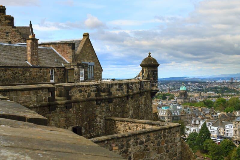 Edinburgstadspanorama royaltyfri foto