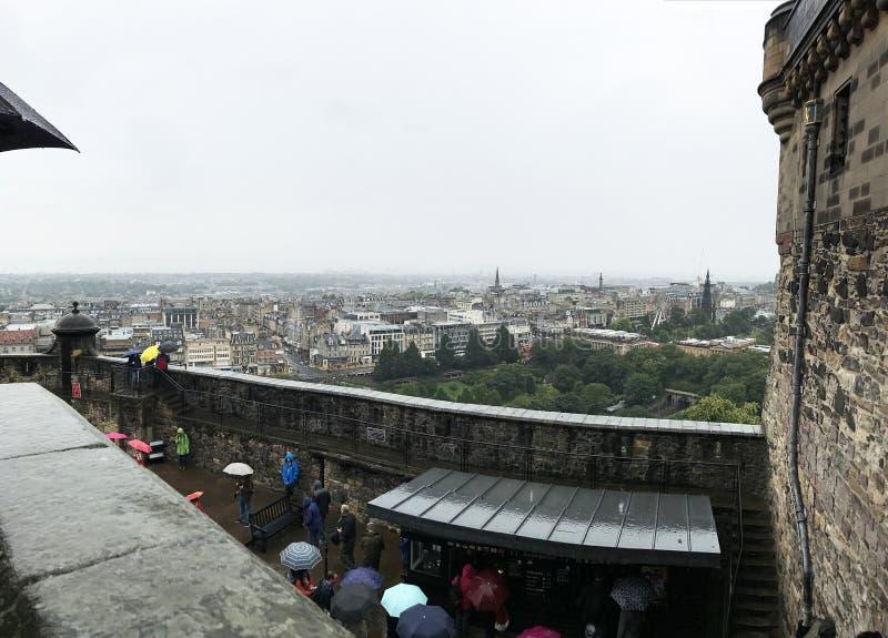 EDINGURGH, SCOTLAND/UNITED KINGDOM – AUGUST 11, 2017: View fro. EDINBURGH, SCOTLAND/UNITED KINGDOM – AUGUST 11, 2017: View from Edinburgh Castle of stock photos