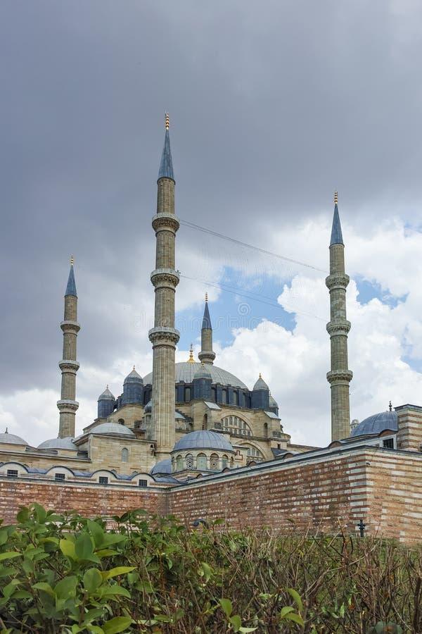 EDIRNE TURCJA, MAJ, - 26, 2018: Outside widok Selimiye meczet Budował między 1569 i 1575 w mieście Edirne, Turke obraz stock