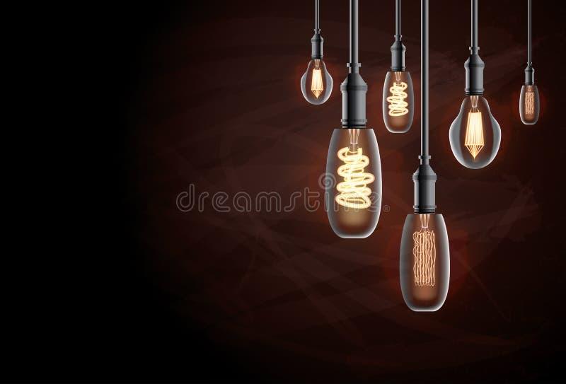 Edison żarówka ilustracja wektor