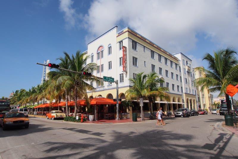 Edison Hotel dans Miami Beach, la Floride image libre de droits
