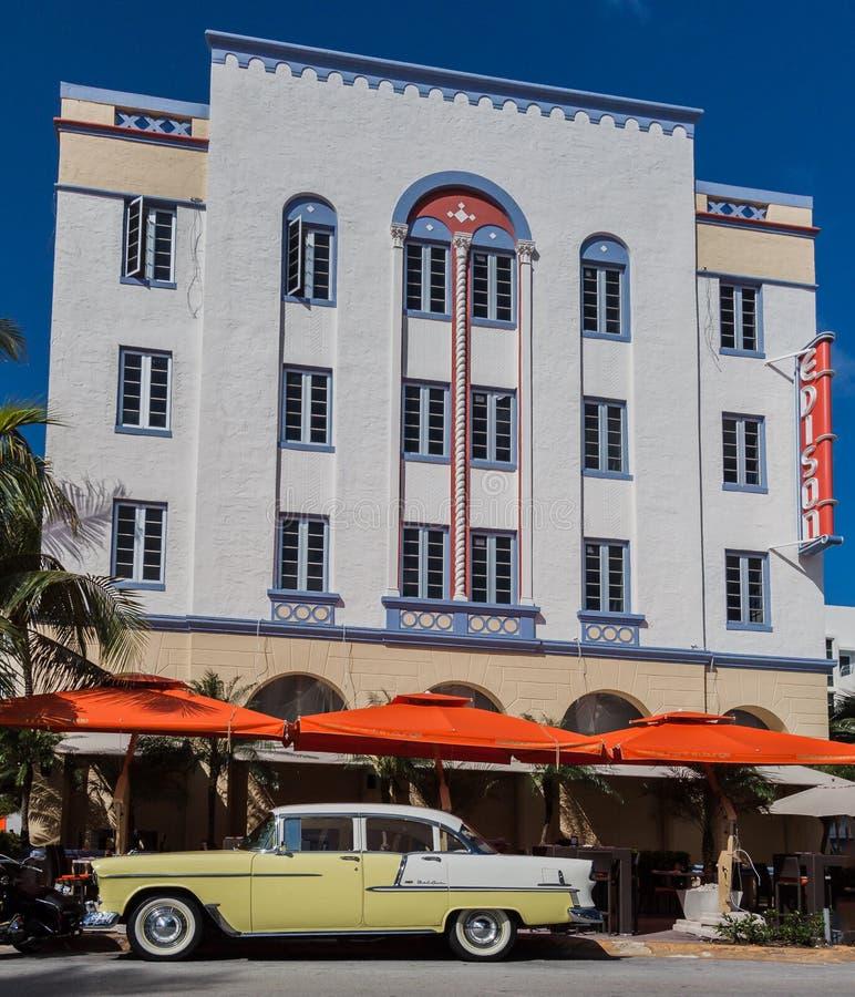 Edison Hotel Miami Beach royaltyfria foton