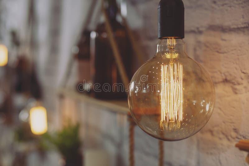Edison Incandescent Light Bulb décoratif brillant image libre de droits