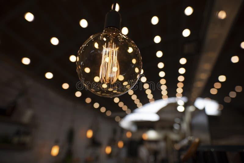 Edison Incandescent Light Bulb decorativo foto de stock