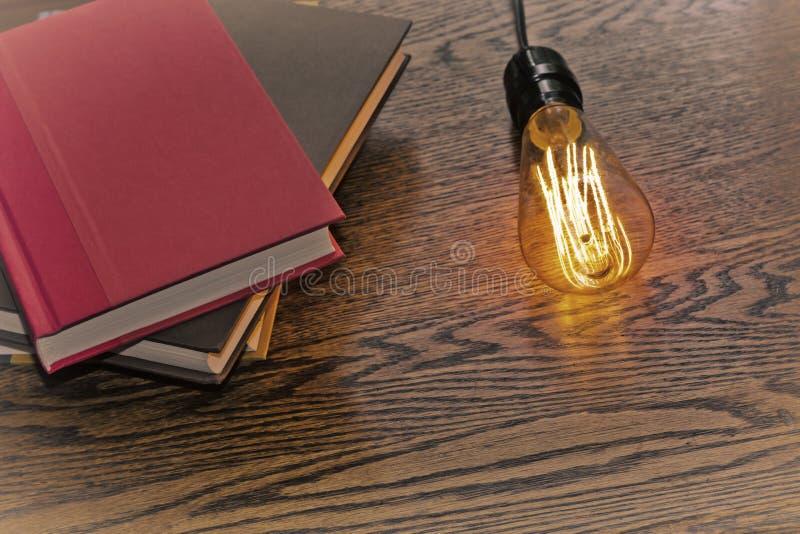 Edison Lightbulb Books stock foto