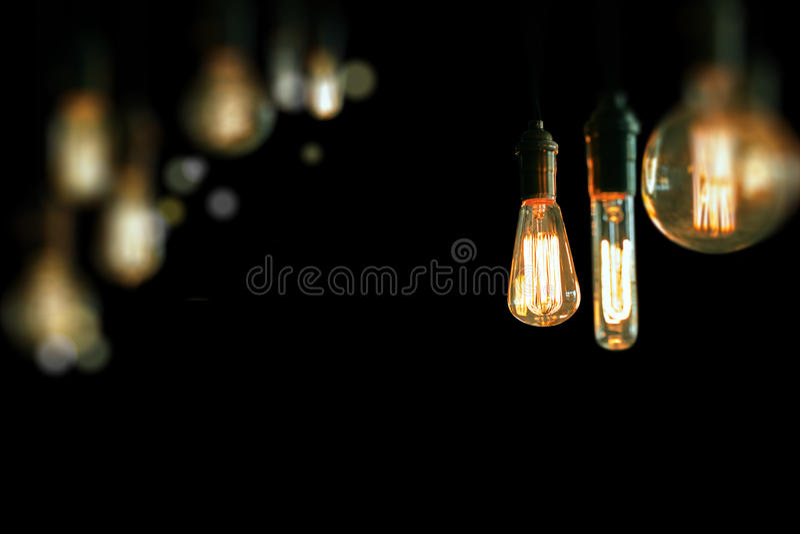 Edison Lightbulbs image libre de droits