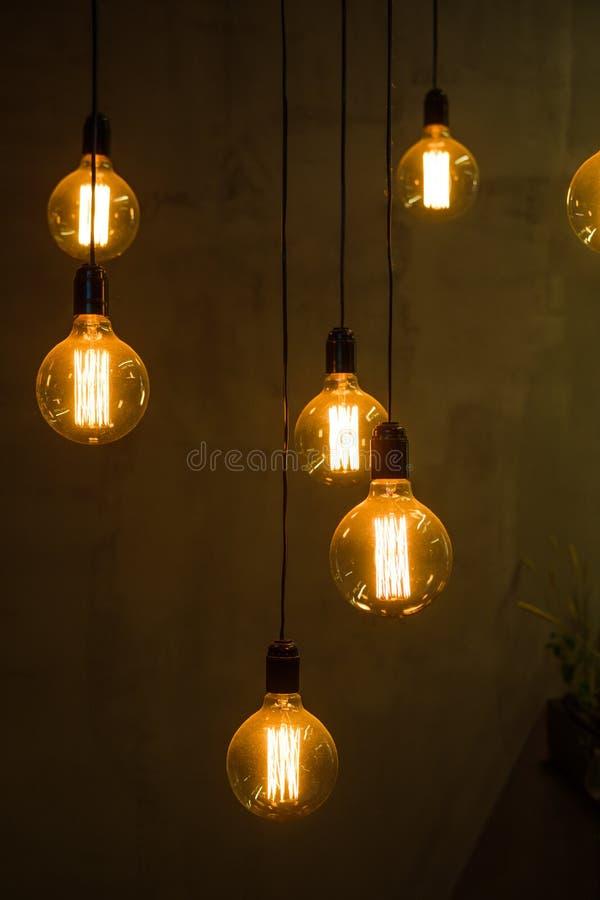 Edison ljus kula royaltyfria bilder