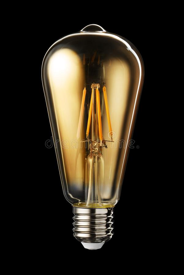 Edison PROWADZIŁ drucik żarówkę obrazy stock