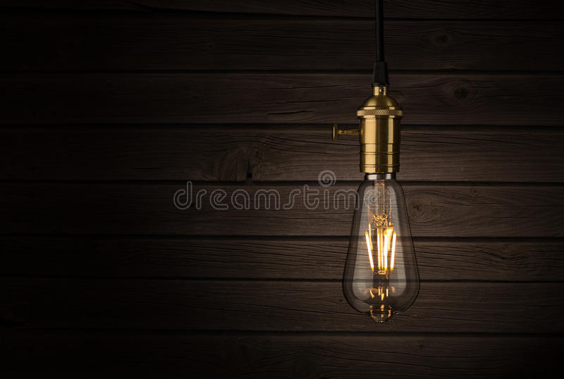 Edison Style Lightbulb imagens de stock