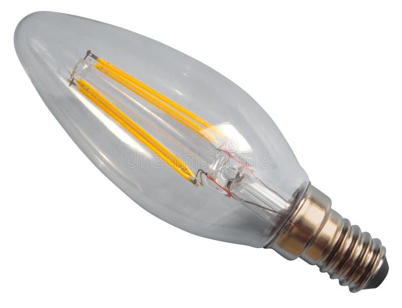 Edisonlampa isolerad royaltyfria foton