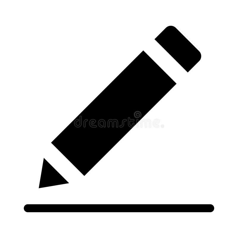 EDIT icon. EDIT glyph line icon royalty free illustration