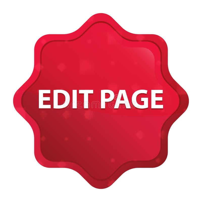 Edit Page misty rose red starburst sticker button stock illustration