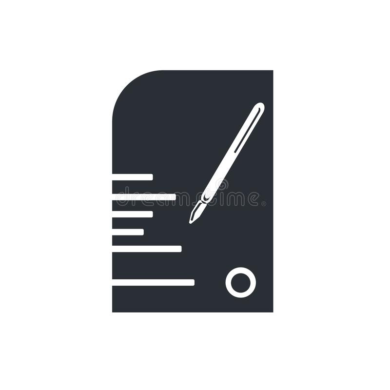 Edit Pencil icon vector sign and symbol isolated on white background, Edit Pencil logo concept stock illustration