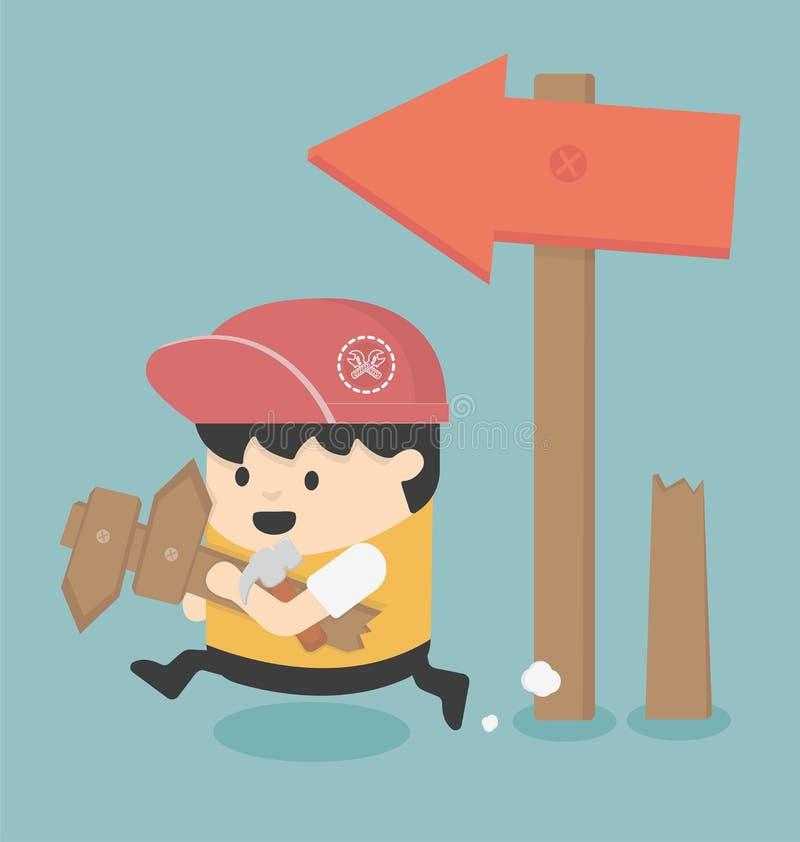 Edit route. Cartoons concepts Edit route eps10 stock illustration
