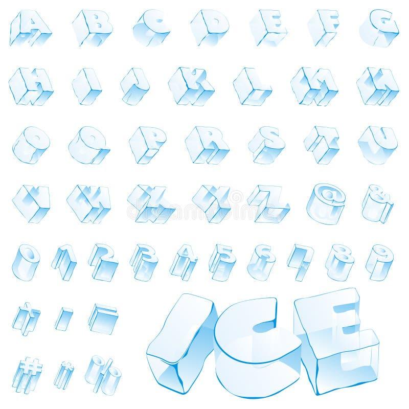 editable διάνυσμα επιστολών πάγο στοκ φωτογραφίες