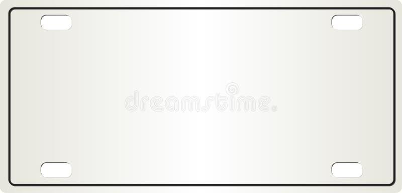 editable πινακίδα αριθμού κυκλ&omicr διανυσματική απεικόνιση