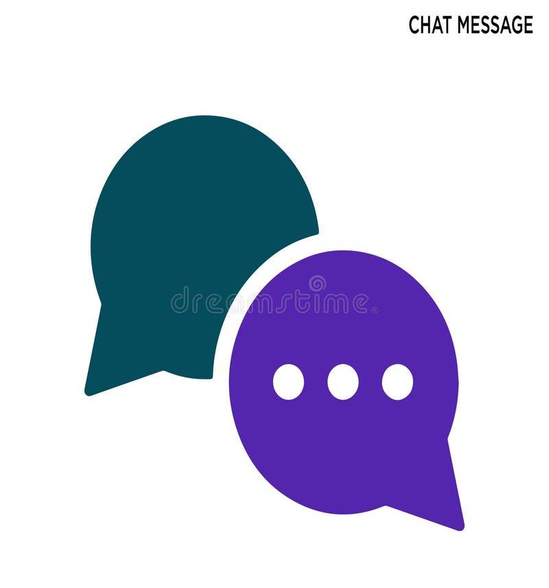 Editable σχέδιο συμβόλων εικονιδίων μηνυμάτων συνομιλίας στοκ εικόνες