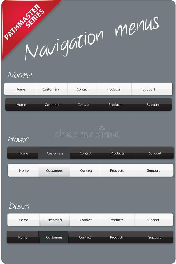 editable навигация меню иллюстрация вектора