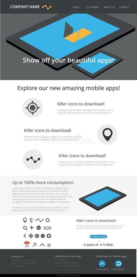 Editable шаблон сети бесплатная иллюстрация