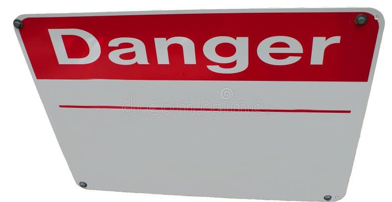 Editable Danger Sign Stock Images