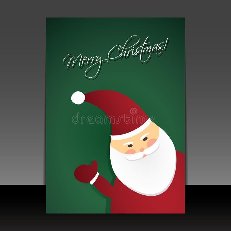 editable eps Χριστουγέννων καρτών πλήρες santa Claus ελεύθερη απεικόνιση δικαιώματος
