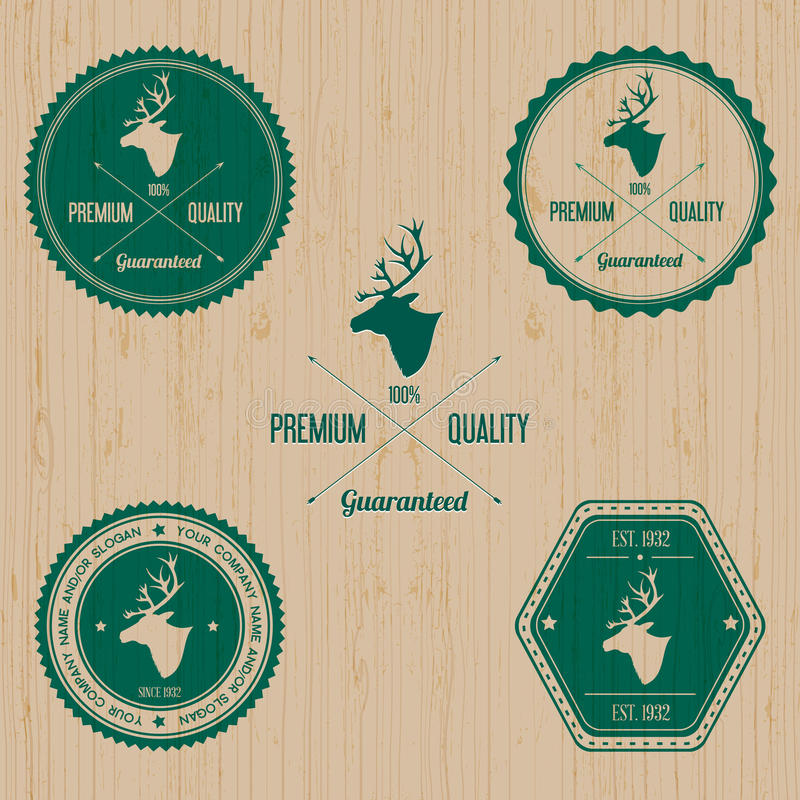 Vintage Deer Badge set. Editable EPS 10 vector illustration - replace with your text vector illustration