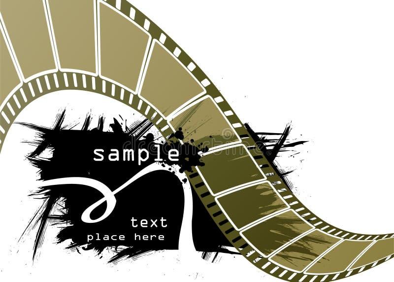 Editable film advertisement vector royalty free stock photo