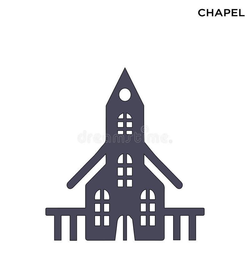 Editable het symboolontwerp van het kapelpictogram stock illustratie