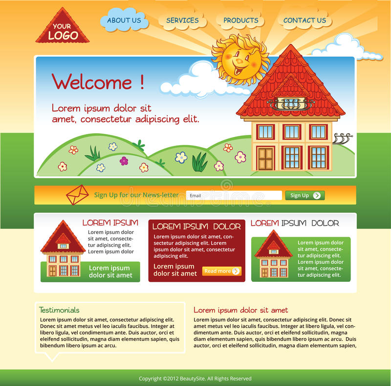 Editable house template for website